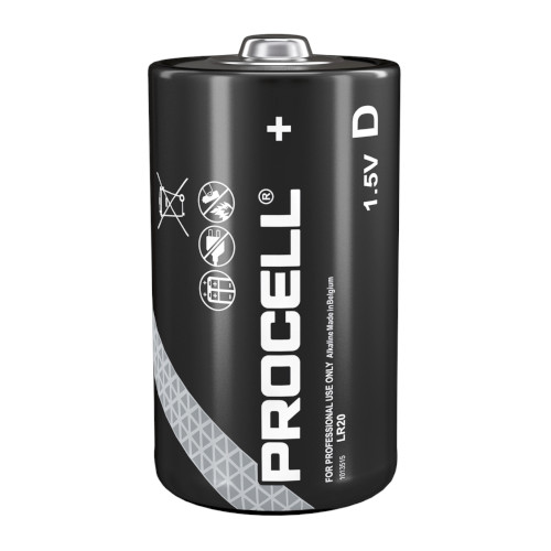 10 Piles Mono D 1.5V LR20 Duracell Procell