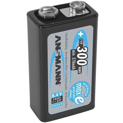 Pile 9V Rechargeable Ansmann PreCharged