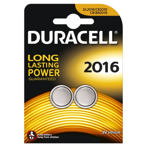 2 Batteria 2016 Litio 3V Duracell Electronics