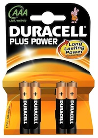 4 Batterie Ministilo AAA Duracell Plus Power