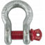 Zinc-plated steel omega shackles with threaded pin